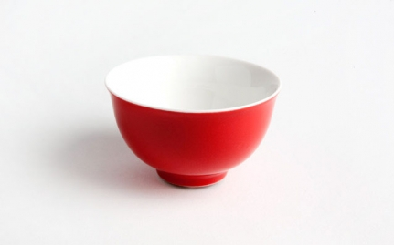 Κόκκινη πορσελάνινη κούπα Hua