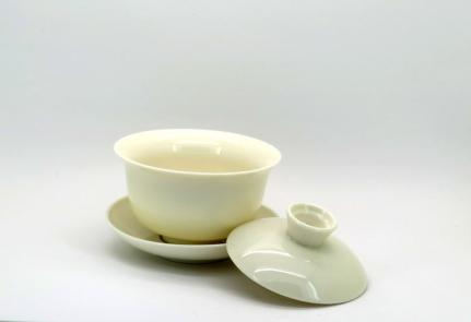 Λευκή πορσελάνινη κούπα Gaiwan