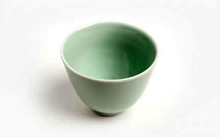 Light green ceramic cup Yu