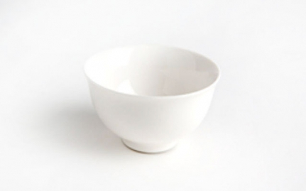 White porcelain tea cup Hua