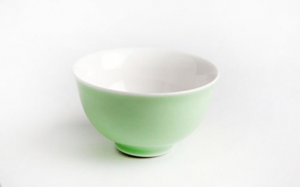 Green porcelain tea cup Hua