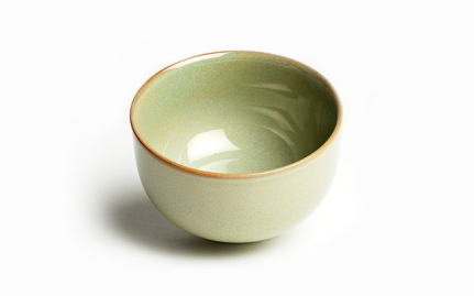 Small traditional glazed ceramic cup Iroyo