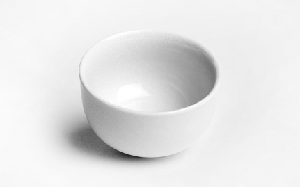 White ceramic cup Iroyo