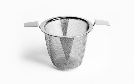 Stainless steel strainer with 2 handles