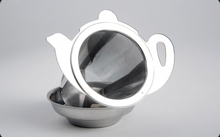 Stainless steel infuser Teapot with tray
