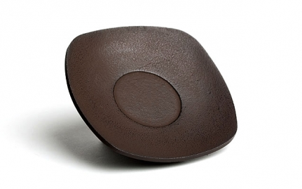 Brown cast iron coaster Zen