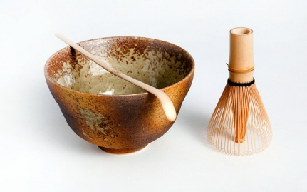 Matcha set, three piece brown
