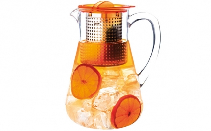 Ice tea pitcher, amber