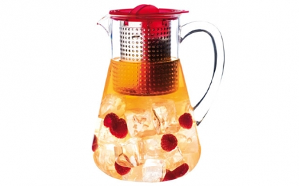 Ice tea pitcher, red