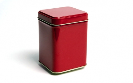 Red tea storage tin