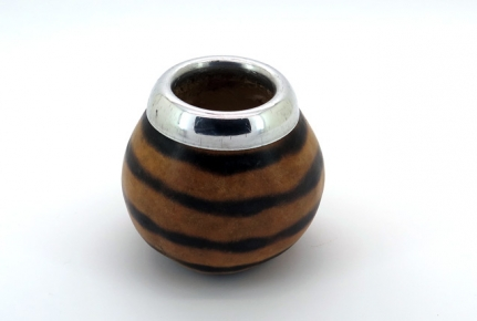 Mate calabash gourd, with dark rings