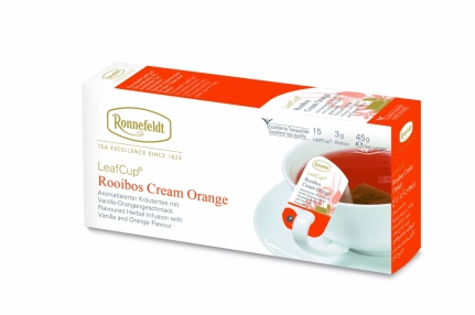 •LeafCup® Rooibos Cream Orange•