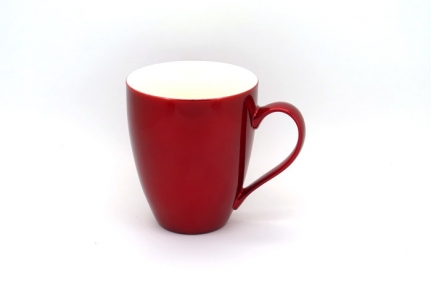 Large 0,45 L metallic-red porcelain mug