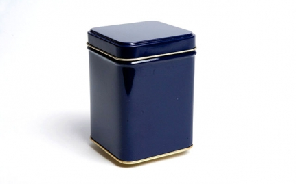 Blue tea storage tin