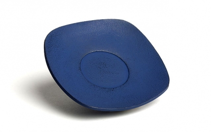 Blue cast iron coaster Zen