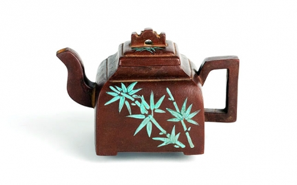 Rectangular Yixing teapot Duan