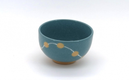 Colourful porcelain cup