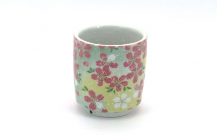 Porcelain tea cup with flowers