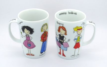 Porcelain tea mug Jogging