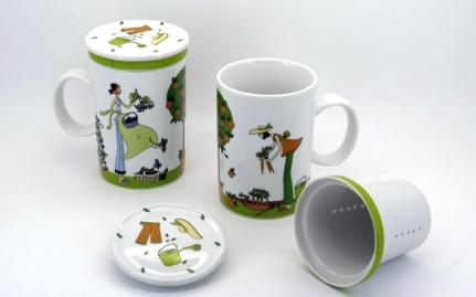 Πορσελάνινο mug Κυπουρική πράσινο