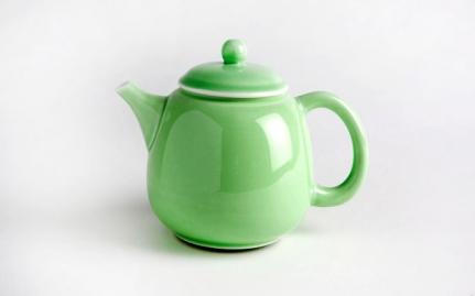 Πράσινη πορσελάνινη τσαγιέρα Hua